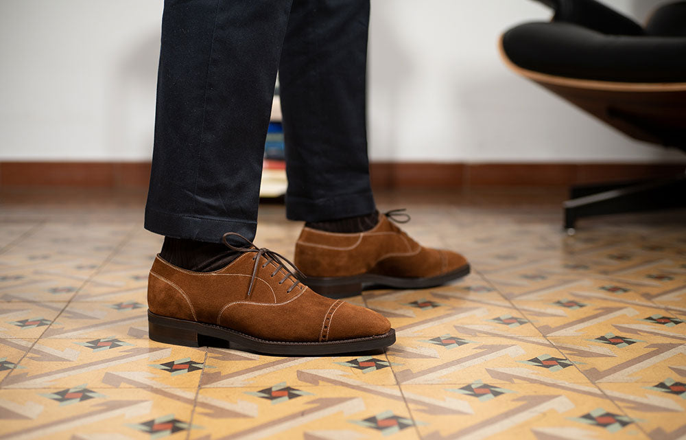 Mario Oxford Suede by Norman Vilalta Bespoke Shoemakers