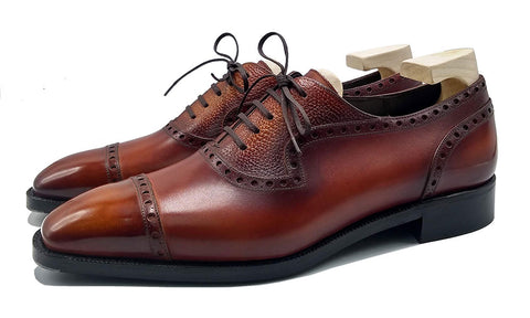 Norman Vilalta made-to-order adelaide oxford shoe made in Spain