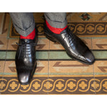 Adelaide Full Brogue (Made-to-Order) - Black & Grey Patina