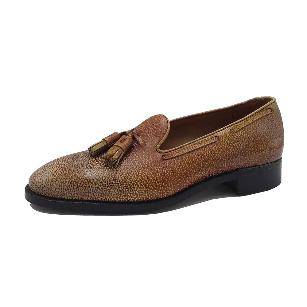 Tassel Loafer (Made-to-Order) - Caramel 3D Patina