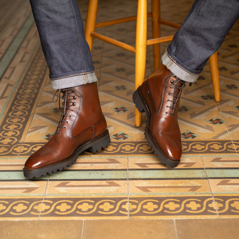 Antonio Balmoral Boot (Made-to-Order) - Castaña Country Calf