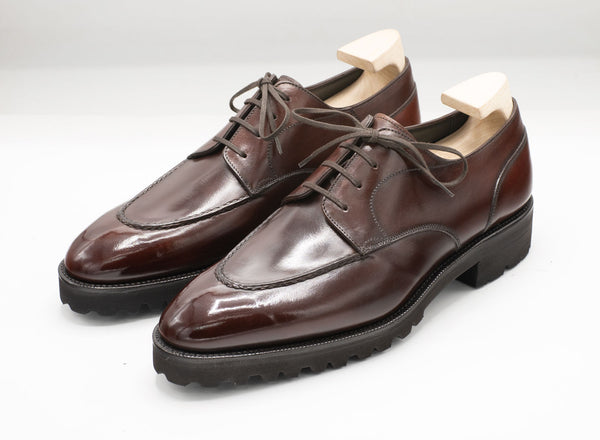 U-tip Derby (Made-to-Order) - Degand Brown Box Calf Leather