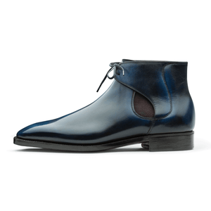 Decon Chelsea Boot - Blue Handmade Patina