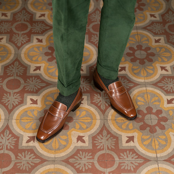 Agustin Penny Loafer (Made-to-Order) - Light Chestnut