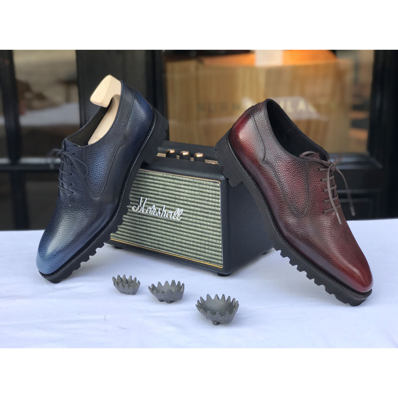 Balmoral Simple Shoe - Bordeaux 3D Patina
