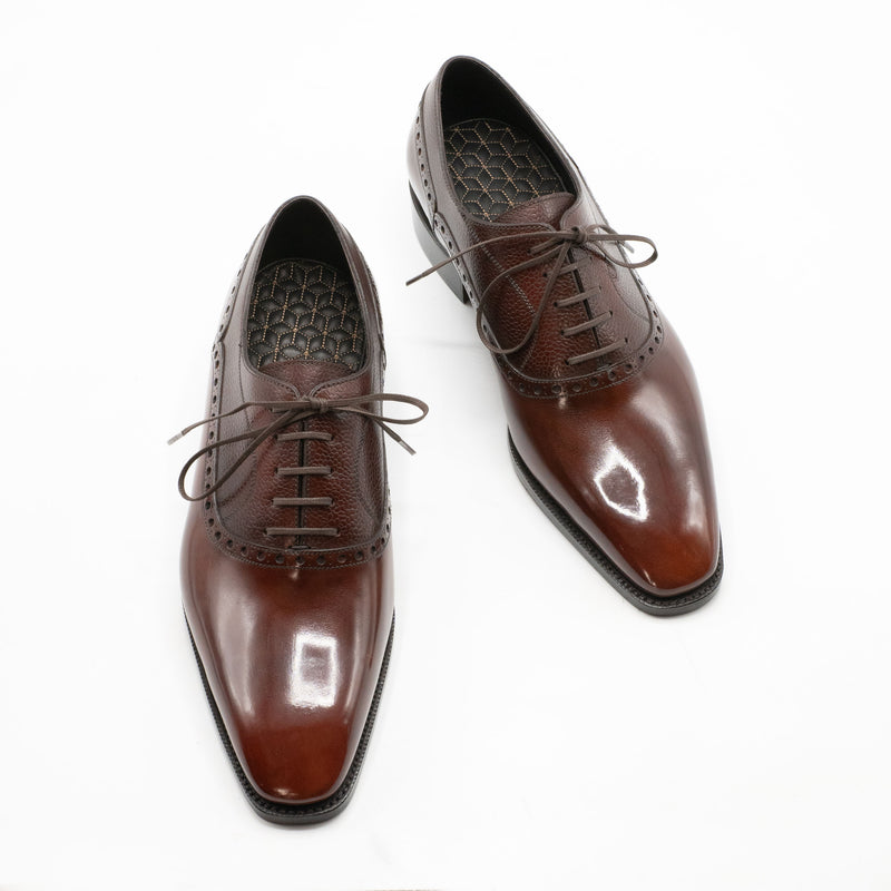 Federico Balmoral Brogue Shoe (Made-to-Order) - Light Mahogany