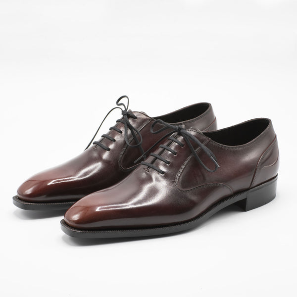 Balmoral Oxford Shoe (Round Toe Last for Hendrick) - Mahogany Patina