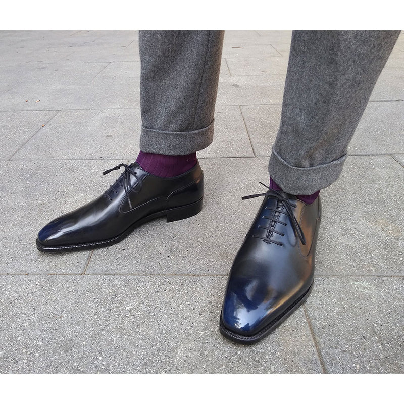 Domingo Balmoral Oxford Shoe (Made-to-Order) - Orion Patina