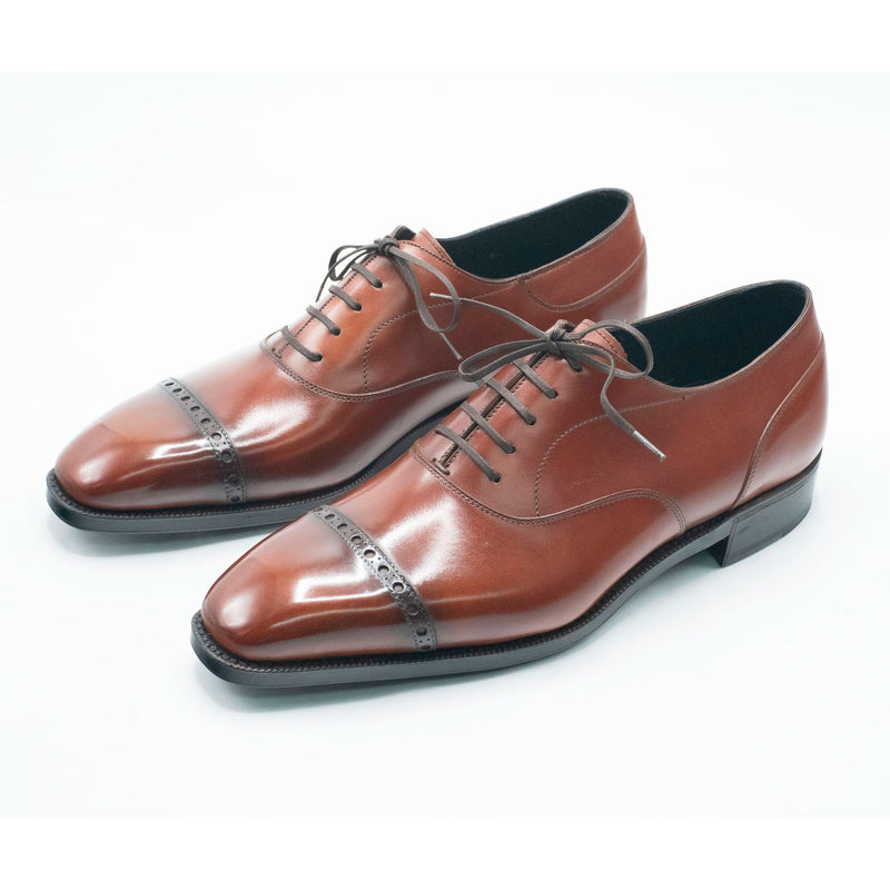 Mario Oxford Shoe - Cognac Box Calf Leather