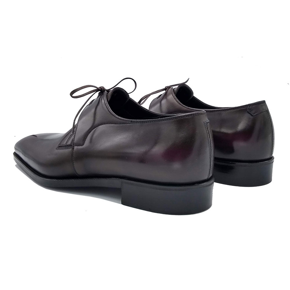 Decon Chelsea Shoe - Black and Purple Handmade Patina