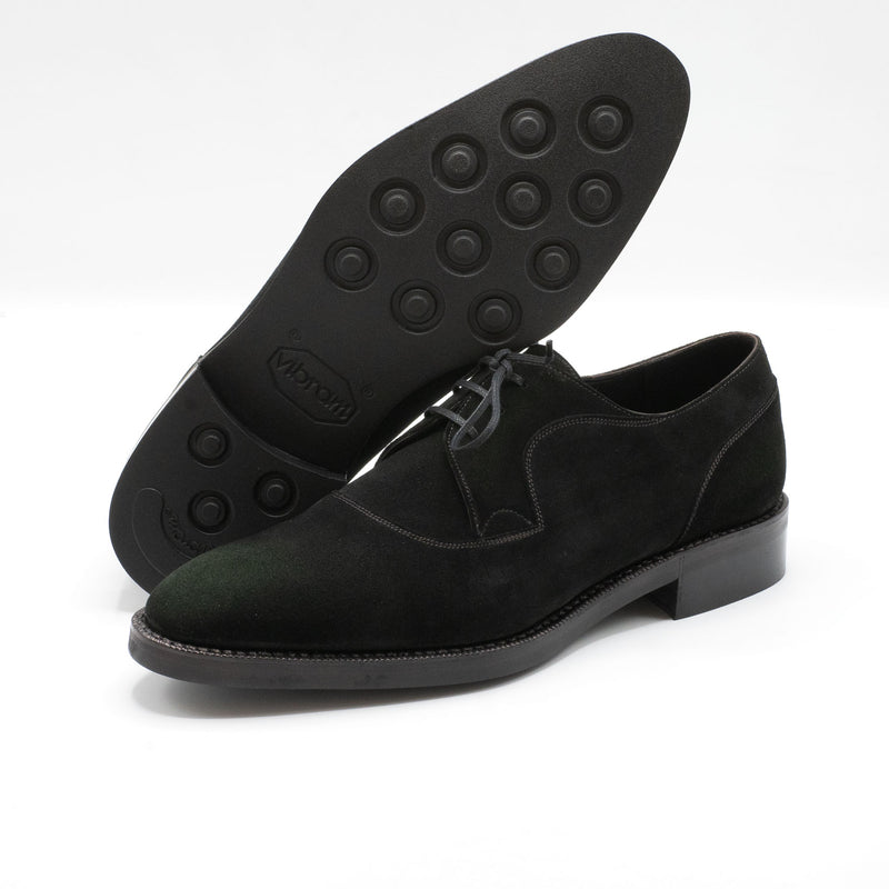 Decon Derby Shoe (Made-to-Order) - Lichen Green Suede