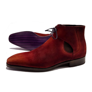 Decon Chelsea Boot - Dirty Red Suede