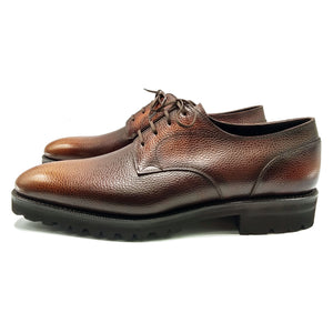 Derby Simple Shoe - Brown 3D Patina