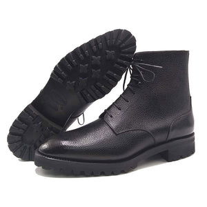 Derby Simple Boot - Black Patina