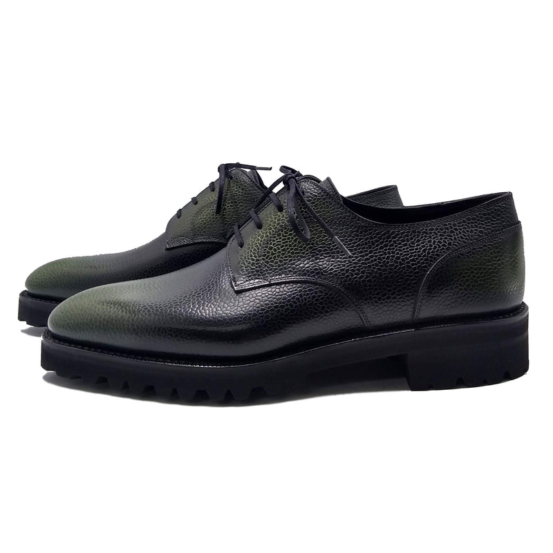 Men's leather derby shoes made in Spain
