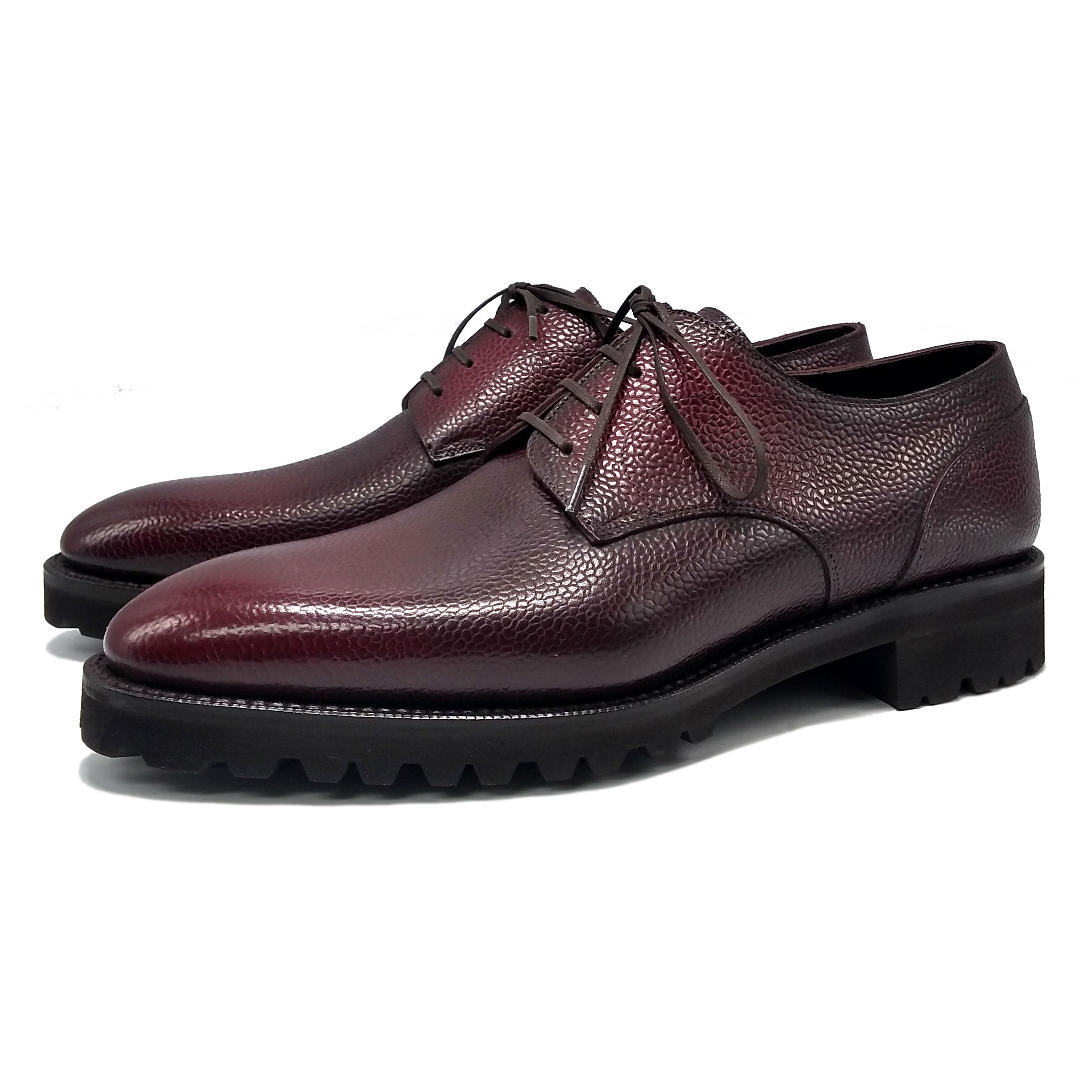 Derby Simple Shoe - Oxblood 3D Patina