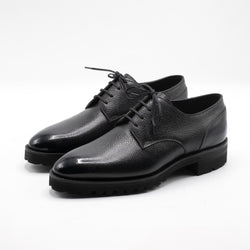 Derby Simple Shoe in onyx by Norman Vilalta Bespoke Shoemakers
