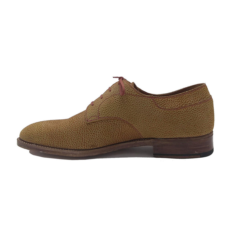 Derby Simple Shoe (Made-to-Order) - Rust Textured Suede