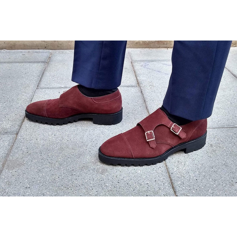 Double Monk Cap Toe Shoe by Norman Vilalta