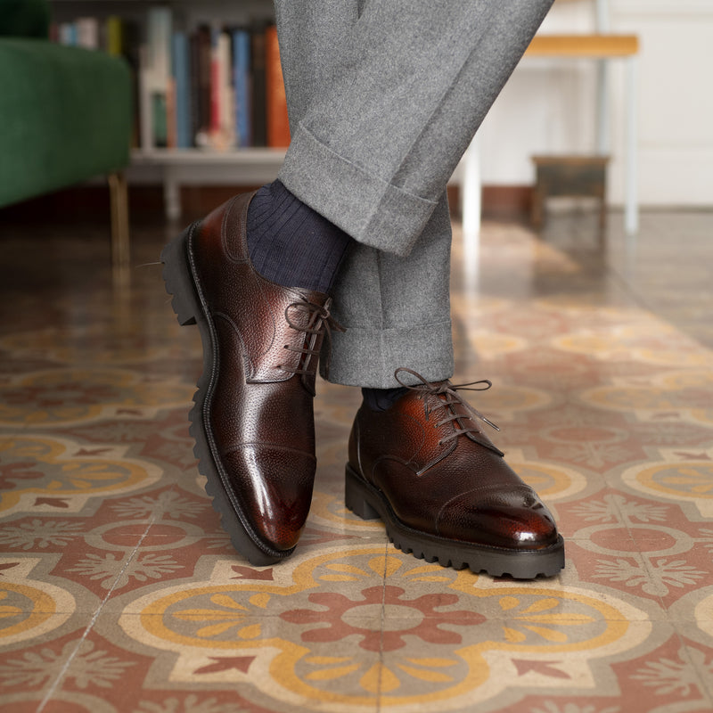 Frank Cap Toe Derby Boot by Norman Vilalta Bespoke Shoemakers