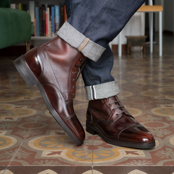 Hemingway Boot - Dark Mahogany (Made-to-Order)
