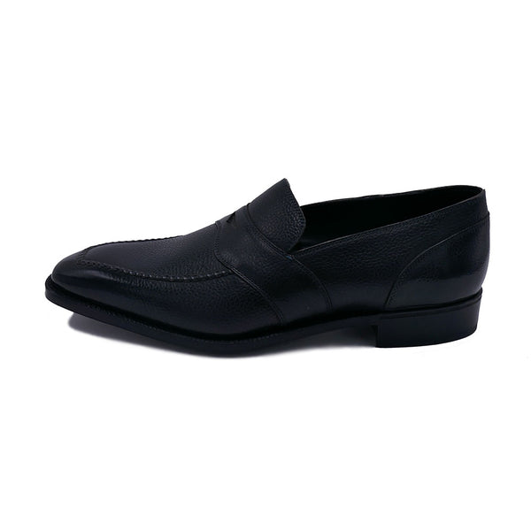 Penny Loafer Hand Stitched Apron  (Made-to-Order) - Onyx Grain Calf Leather