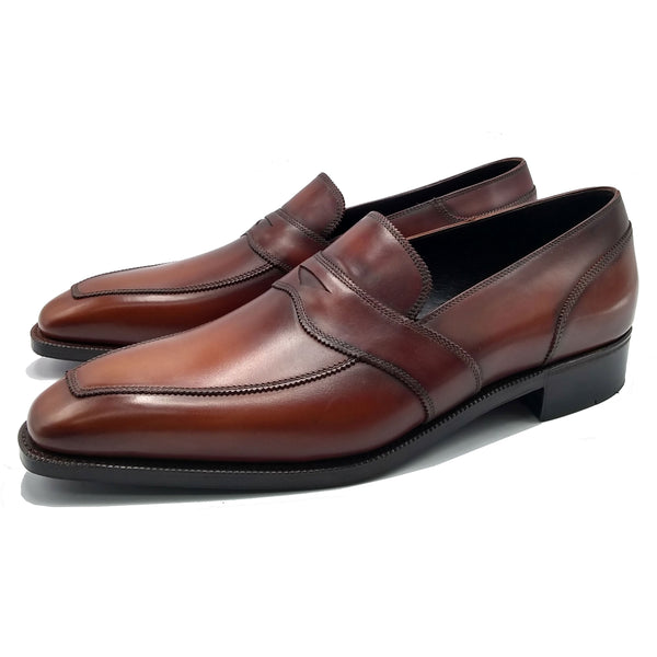 Penny Loafer (Made-to-Order) - Brown Handmade Patina