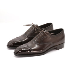 Medallion Cap Toe Oxford Shoe by Norman Vilalta Bespoke Shoemakers