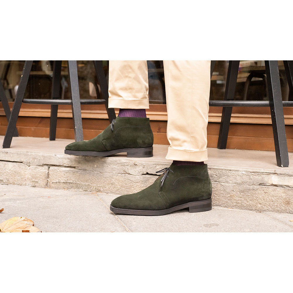 Chukka Boot (Made-to-Order) - Deep Lichen Green