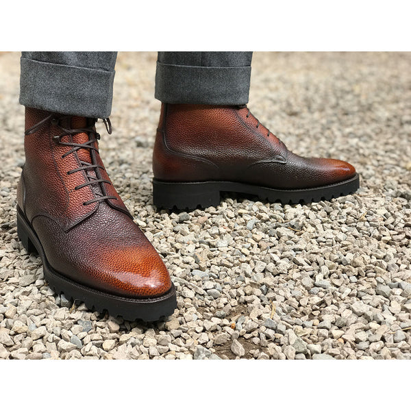 Men's Derby Simple Boot made in Spain by Norman Vilalta in Barcelona