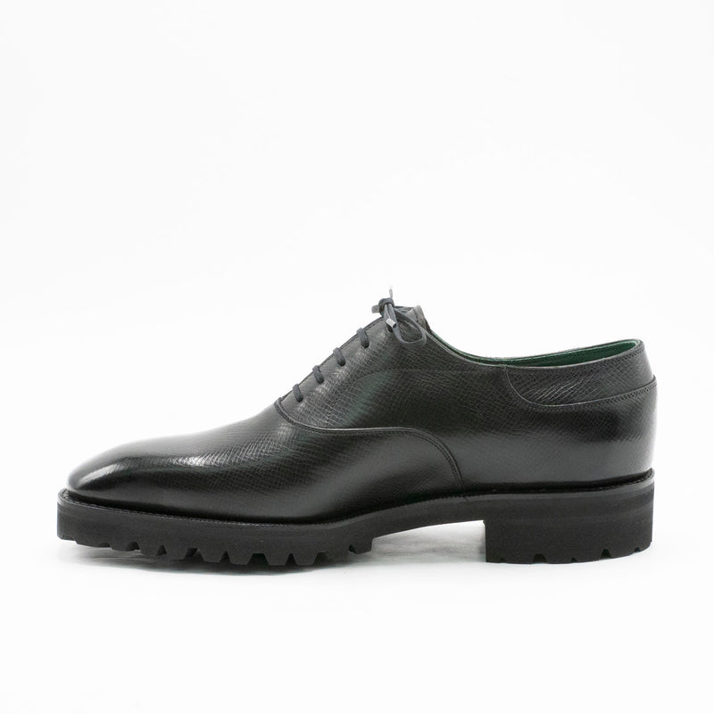 Oxford Simple Shoe (Special Order for Adrien) - Onyx Nappa Grain Leather