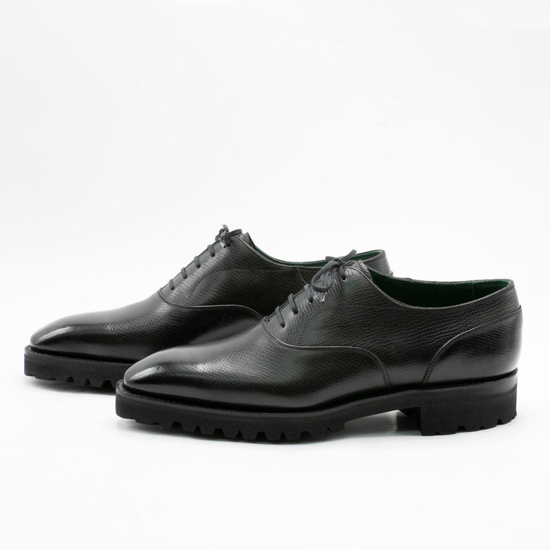 Oxford Simple Shoe (Made-to-Order) - Onyx Nappa Grain Leather