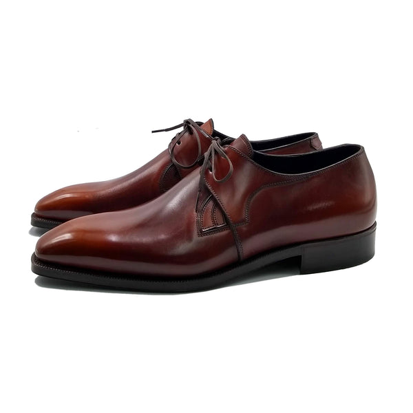 Westley Decon Derby Shoe - Cognac Handmade Patina