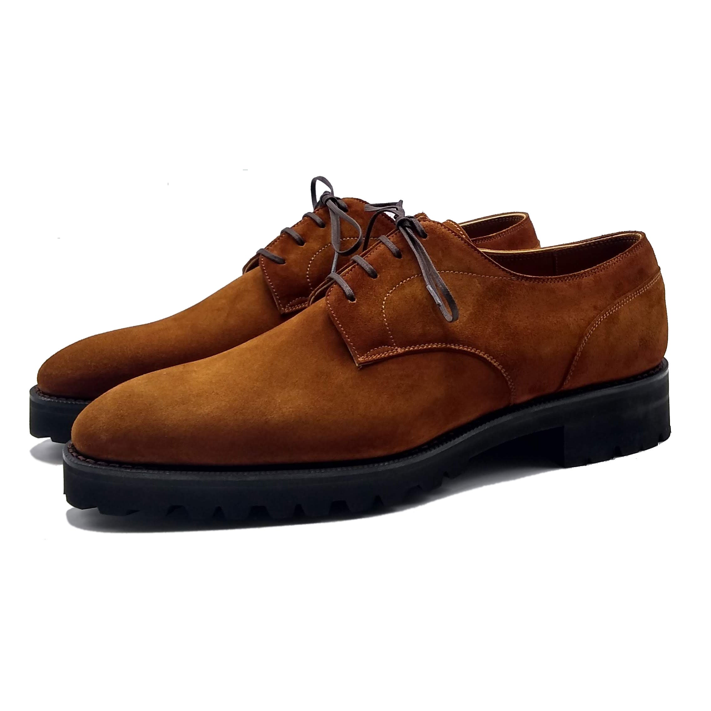 Derby simple in suede made in Spain by Norman Vilalta