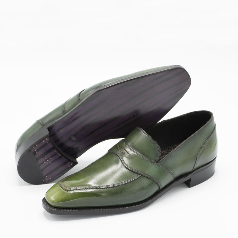 Penny Loafer - Rosemary Handmade Patina