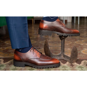 Hand-stitched U-tip Derby (Made-to-Order) - 3D Patina