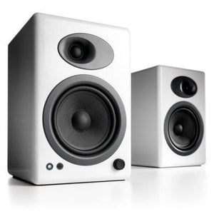 Audio Engine Bookshelf Speaker Hi-Gloss White Audioengine 5+ Powered Bookshelf Speakers - Pair