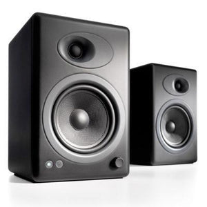 Audio Engine Bookshelf Speaker Satin Black Audioengine 5+ Powered Bookshelf Speakers - Pair