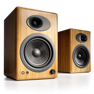 Audio Engine Bookshelf Speaker Solid Bamboo Audioengine 5+ Powered Bookshelf Speakers - Pair