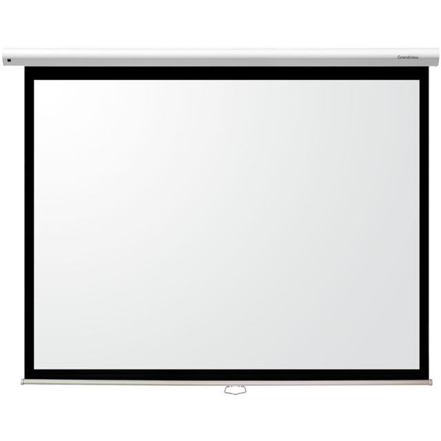 Grandview Cyber Series Manual Pull Down Projector Screen - Ultra Sound & Vision