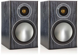 Monitor Audio Bookshelf Speaker Black Oak Monitor Audio Bronze 1 Bookshelf Speaker - Pair