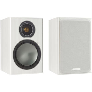 Monitor Audio Bookshelf Speaker White Ash Monitor Audio Bronze 1 Bookshelf Speaker - Pair