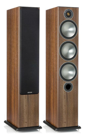 Monitor Audio Floorstanding Speaker Walnut Monitor Audio Bronze 6 Floorstanding Speakers - Pair