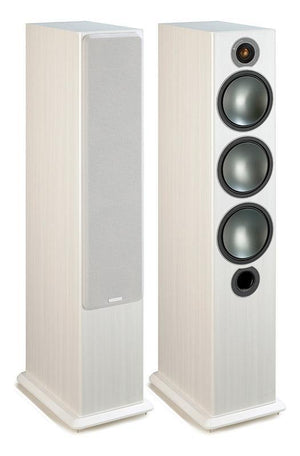 Monitor Audio Floorstanding Speaker White Ash Monitor Audio Bronze 6 Floorstanding Speakers - Pair