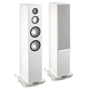 Monitor Audio Floorstanding Speaker Piano Gloss White Monitor Audio Gold 300 Floorstanding Speaker - Pair