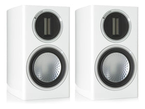 Monitor Audio Bookshelf Speaker Piano Gloss White Monitor Audio Gold 50 Bookshelf Speaker - Pair
