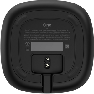 Sonos One SL bottom - black