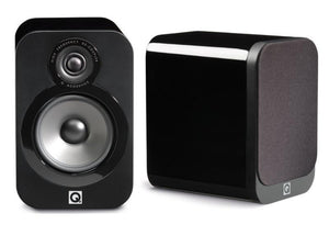Q Acoustics Bookshelf Speaker Black Lacquer Opened Box Q Acoustics 3020 Bookshelf Speakers - Pair