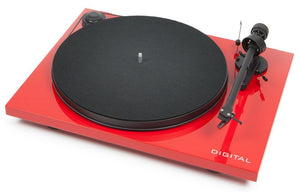 Pro-ject Turntable Red / New Pro-ject Essential II Digital Turntable
