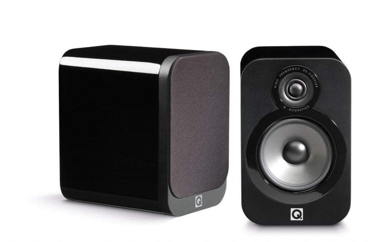 Q Acoustics Bookshelf Speaker Black Lacquer Q Acoustics 3010 Bookshelf Speaker - Pair